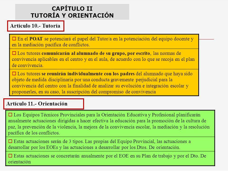 CAPÍTULO II TUTORÍA Y ORIENTACIÓN