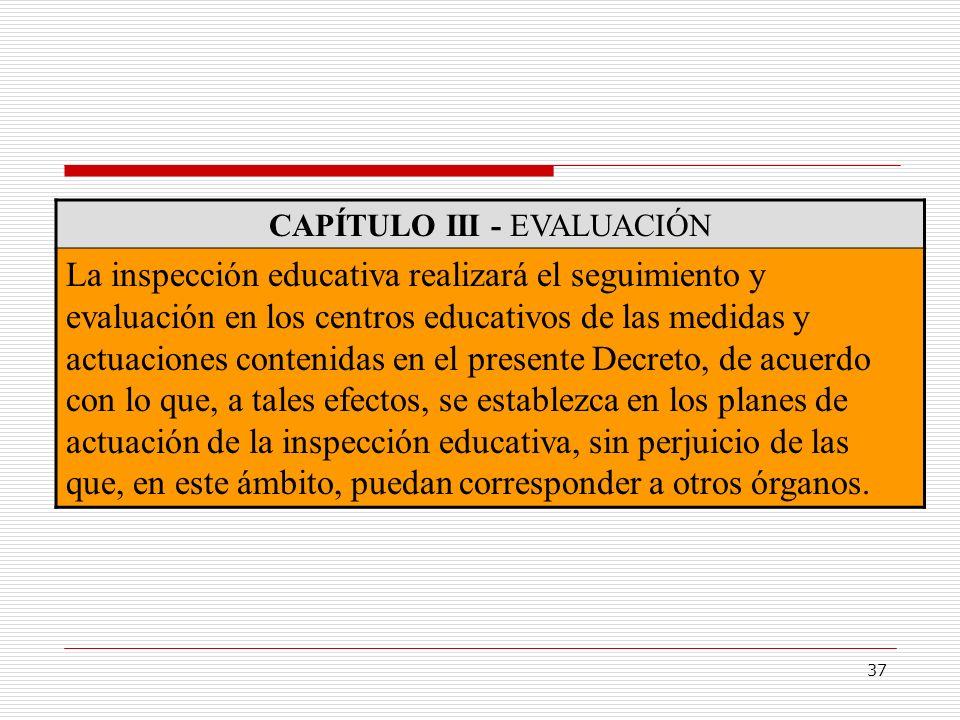 CAPÍTULO III - EVALUACIÓN