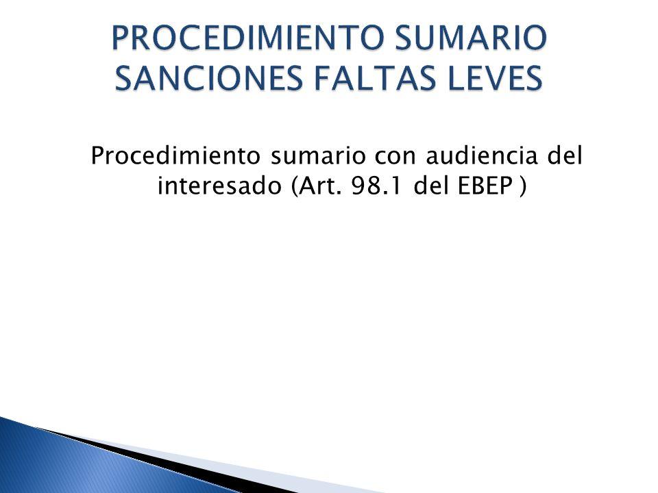 PROCEDIMIENTO SUMARIO SANCIONES FALTAS LEVES