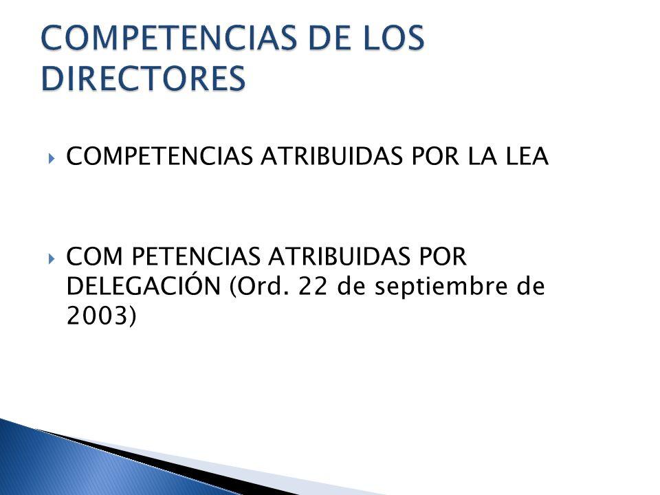 COMPETENCIAS DE LOS DIRECTORES