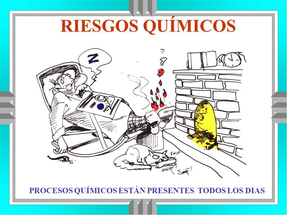 RIESGOS QUÍMICOS PROCESOS QUÍMICOS ESTÁN PRESENTES TODOS LOS DIAS