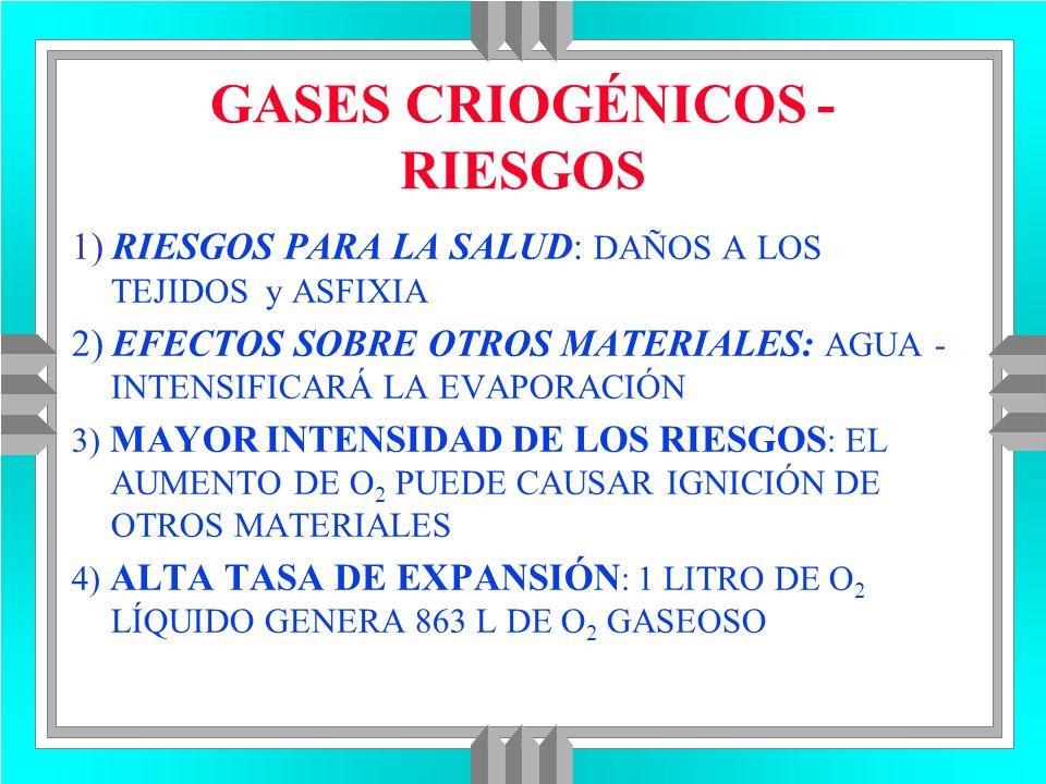 GASES CRIOGÉNICOS - RIESGOS