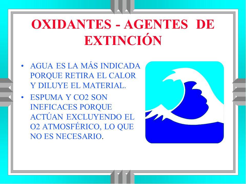 OXIDANTES - AGENTES DE EXTINCIÓN
