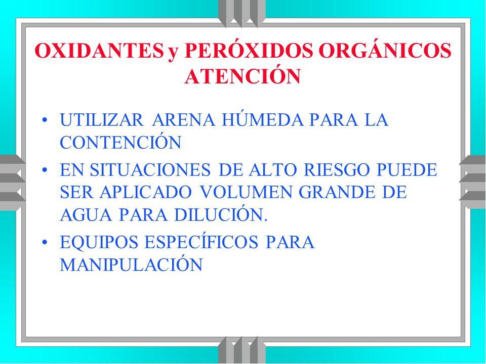 OXIDANTES y PERÓXIDOS ORGÁNICOS ATENCIÓN
