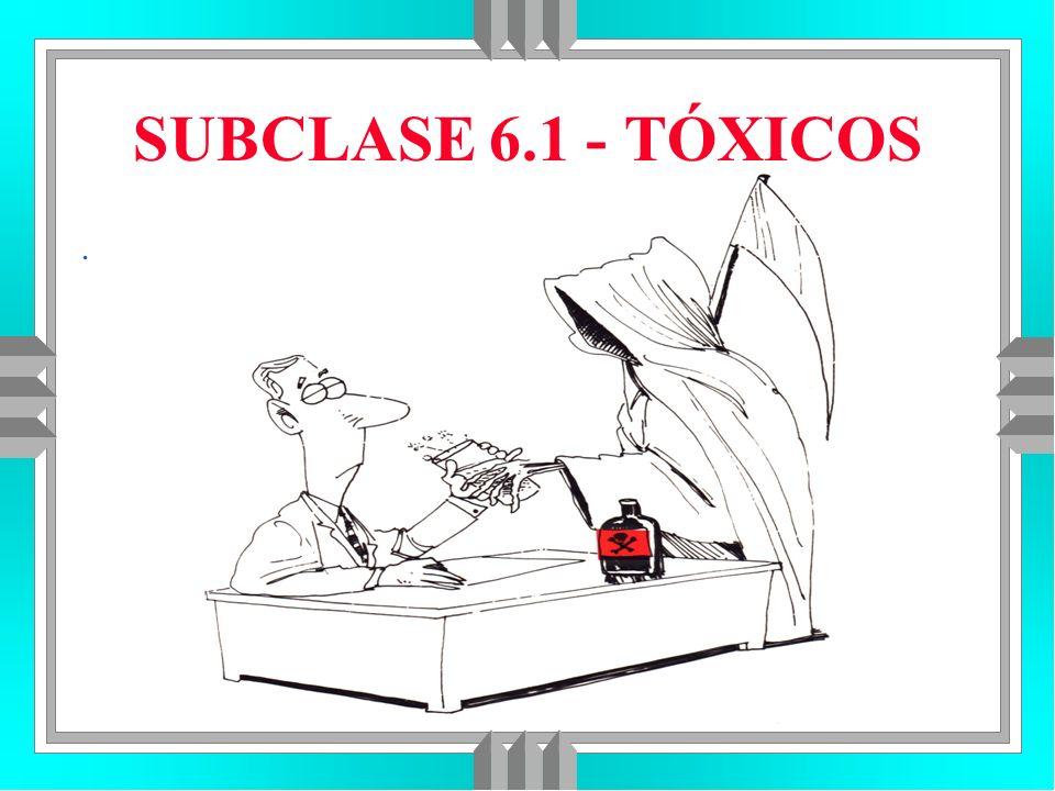 SUBCLASE 6.1 - TÓXICOS .