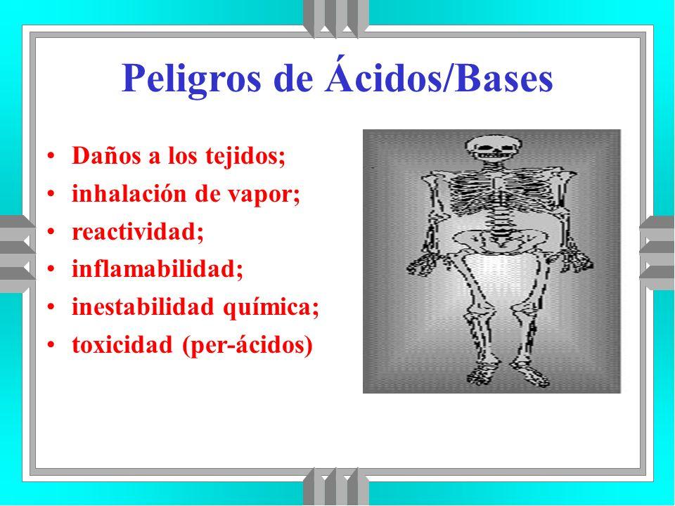 Peligros de Ácidos/Bases