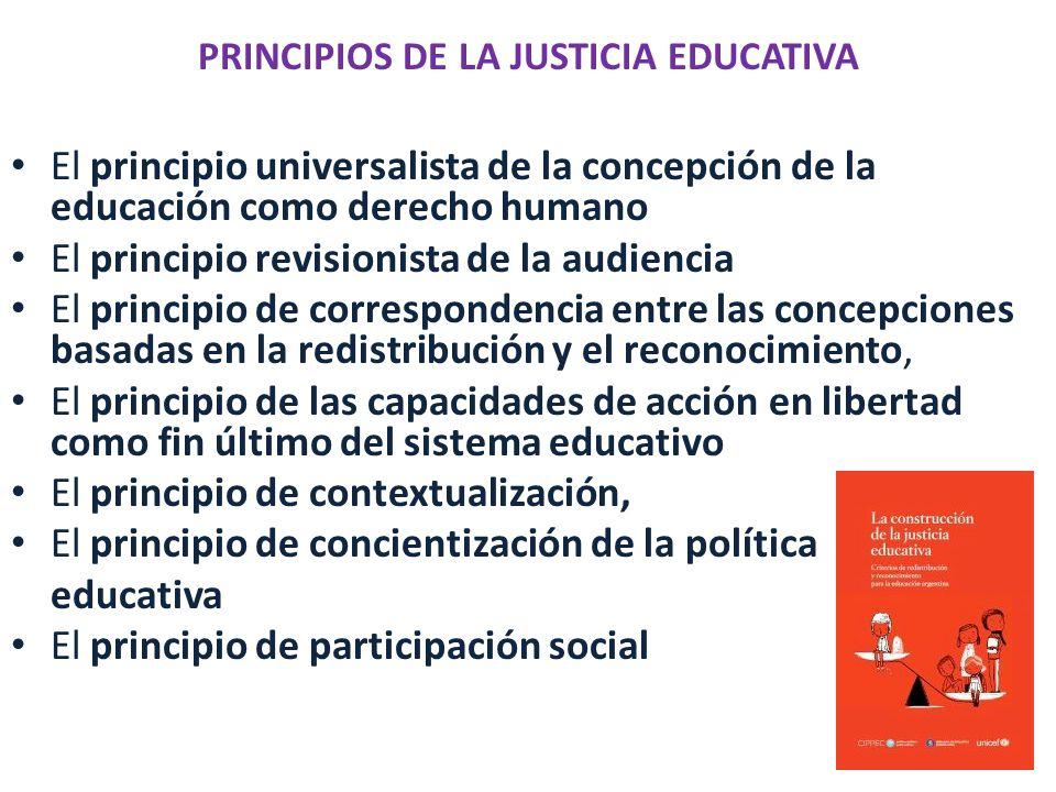 PRINCIPIOS DE LA JUSTICIA EDUCATIVA