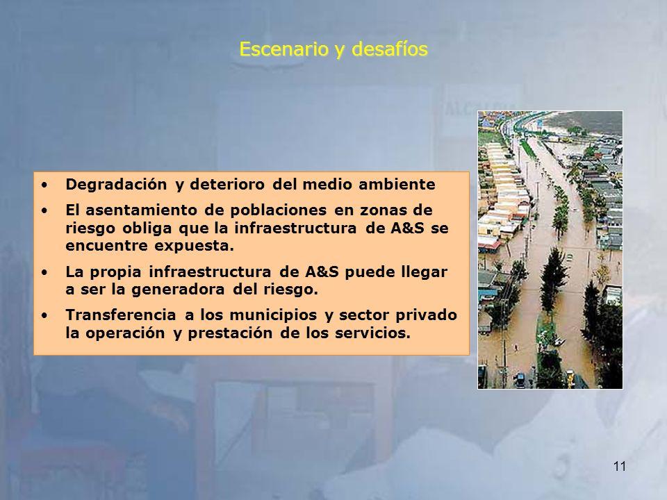 Escenario y desafíos Degradación y deterioro del medio ambiente