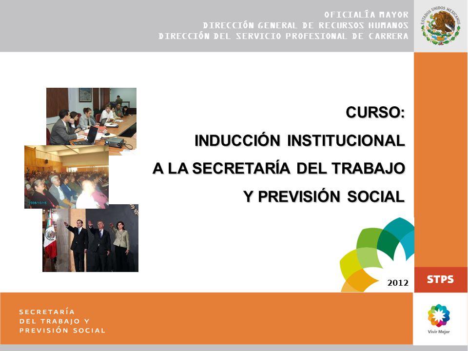 INDUCCIÓN INSTITUCIONAL A LA SECRETARÍA DEL TRABAJO Y PREVISIÓN SOCIAL