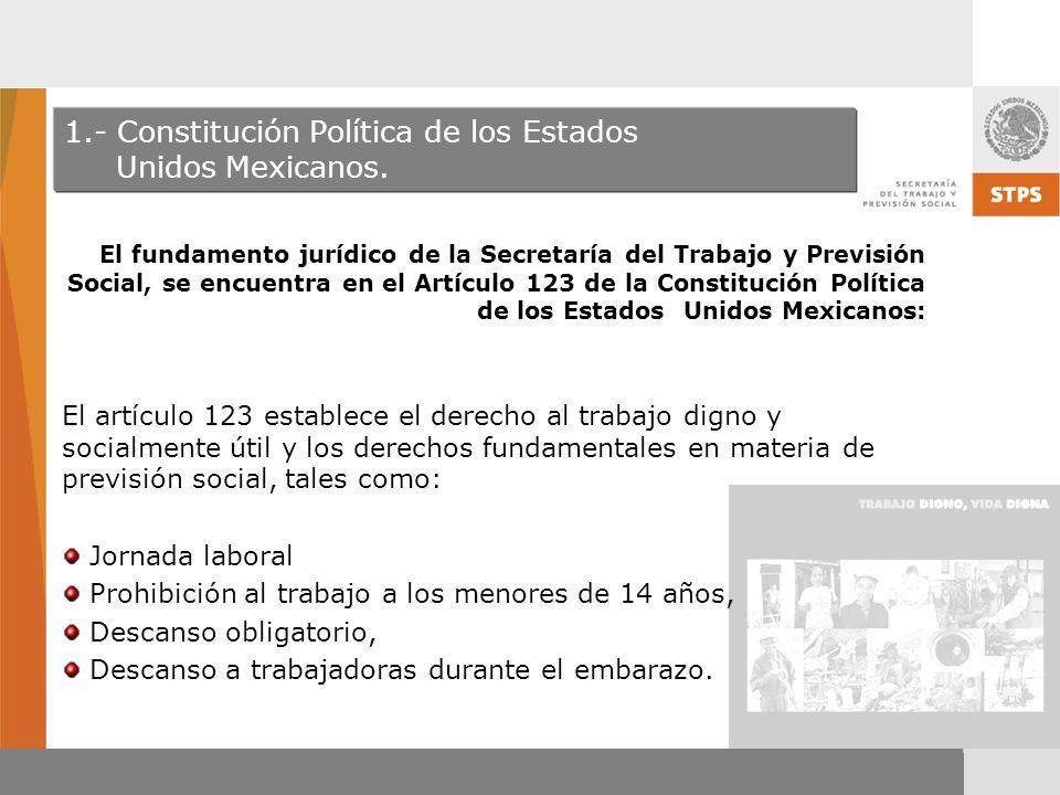 1.- Constitución Política de los Estados Unidos Mexicanos.