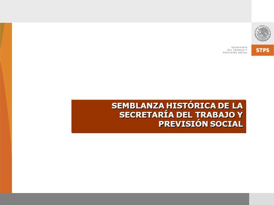 SEMBLANZA HISTÓRICA DE LA SECRETARÍA DEL TRABAJO Y PREVISIÓN SOCIAL