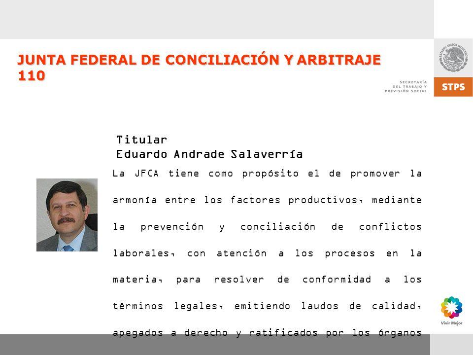 JUNTA FEDERAL DE CONCILIACIÓN Y ARBITRAJE 110
