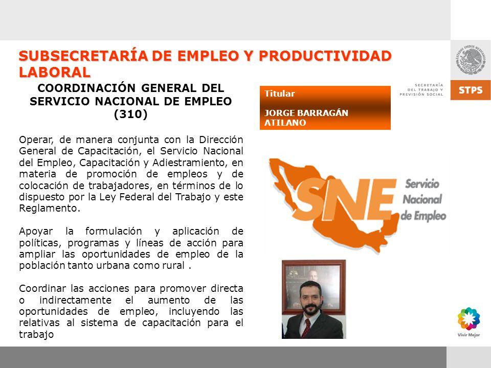 COORDINACIÓN GENERAL DEL SERVICIO NACIONAL DE EMPLEO