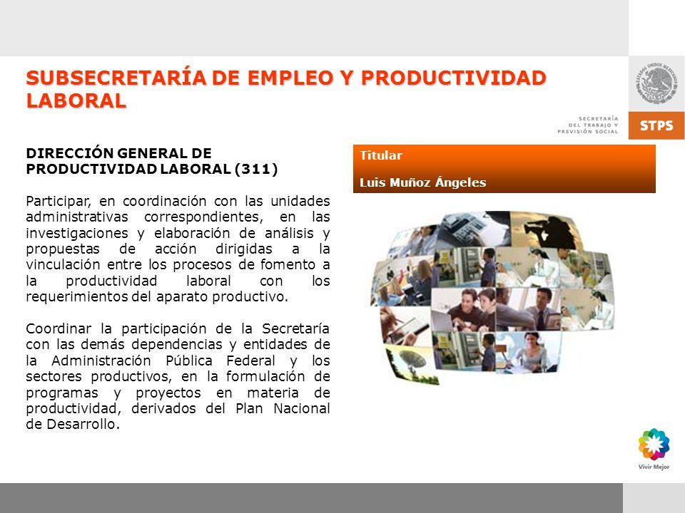 SUBSECRETARÍA DE EMPLEO Y PRODUCTIVIDAD LABORAL