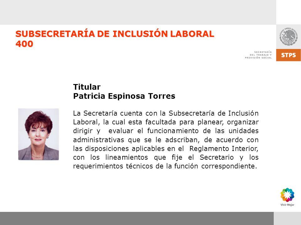 SUBSECRETARÍA DE INCLUSIÓN LABORAL 400