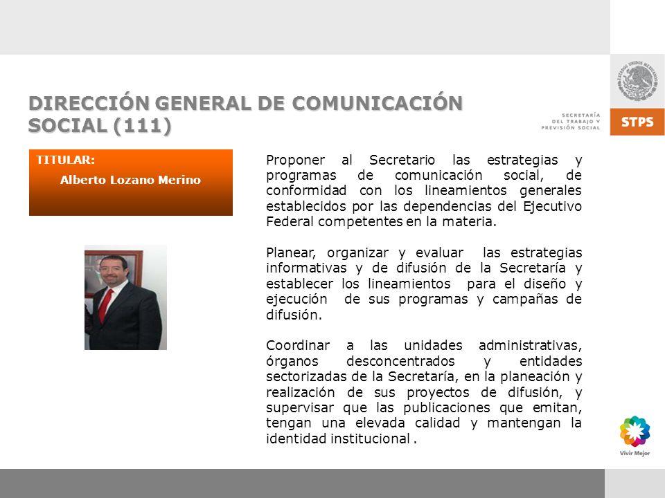 DIRECCIÓN GENERAL DE COMUNICACIÓN SOCIAL (111)