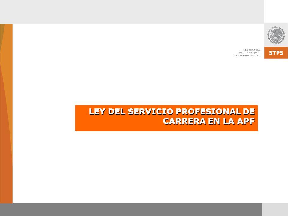 LEY DEL SERVICIO PROFESIONAL DE CARRERA EN LA APF