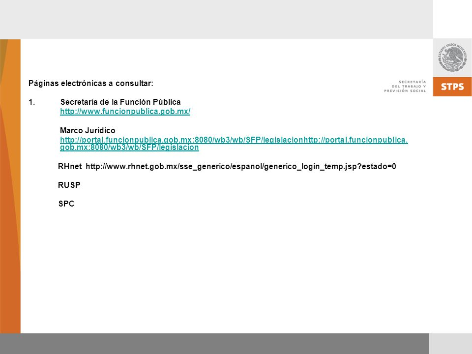 Páginas electrónicas a consultar: