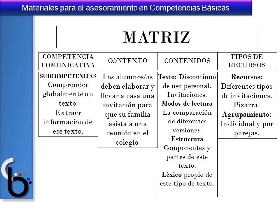 MATRIZ Comprender globalmente un texto.