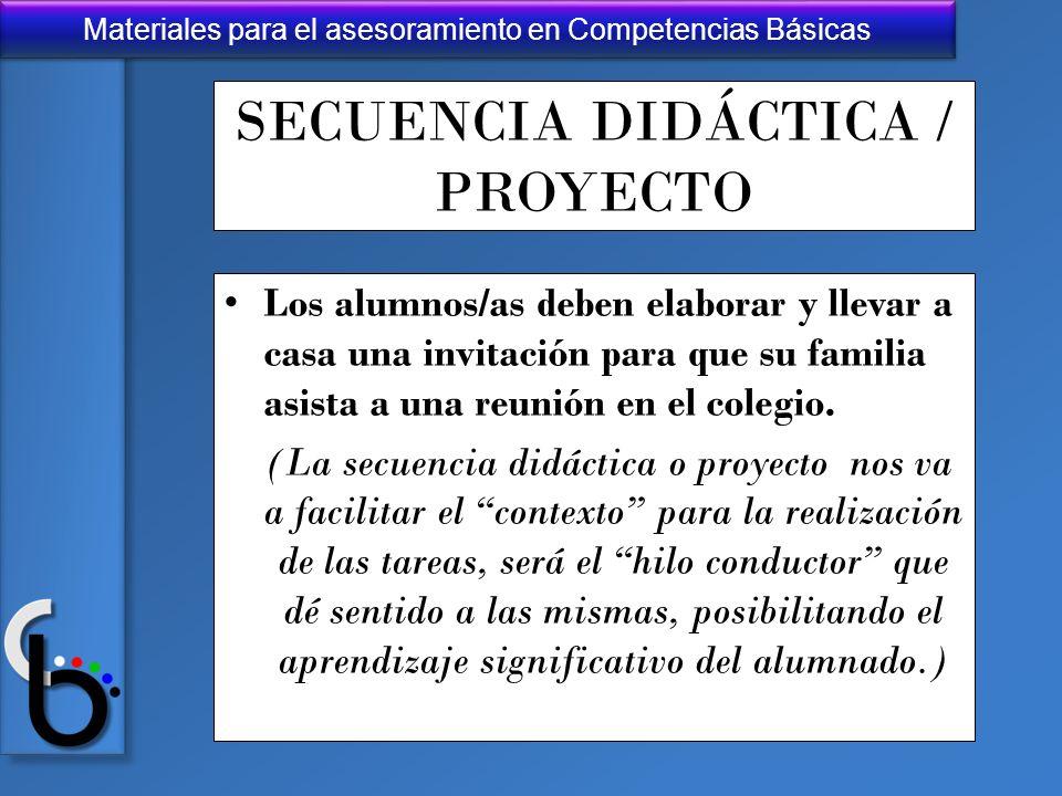 SECUENCIA DIDÁCTICA / PROYECTO