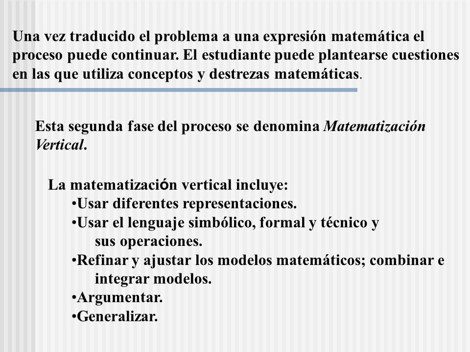 Una vez traducido el problema a una expresión matemática el