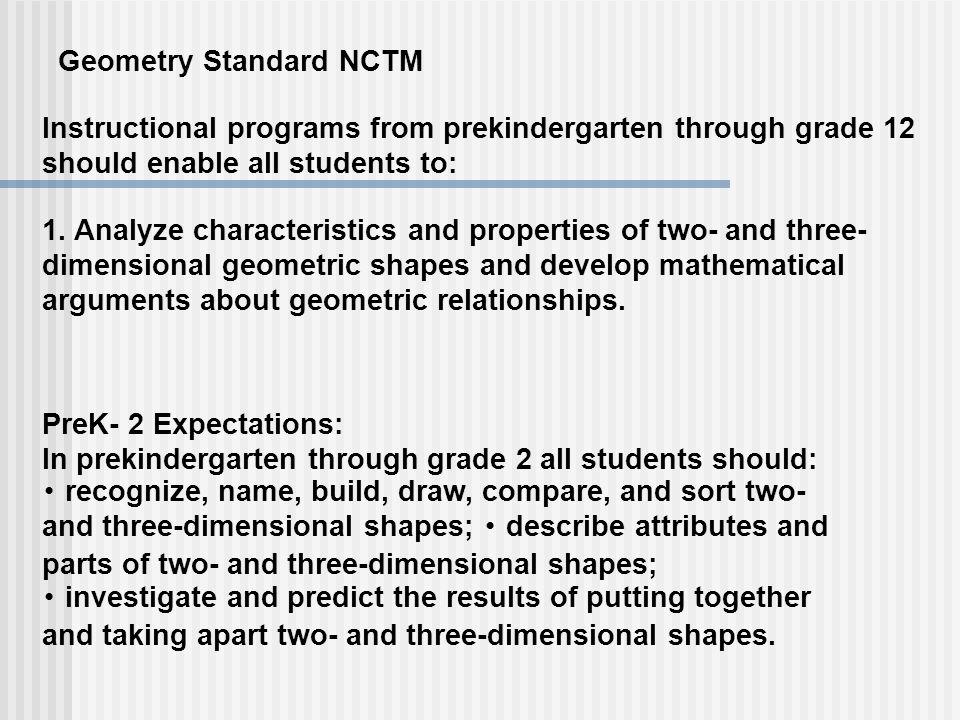 Geometry Standard NCTM