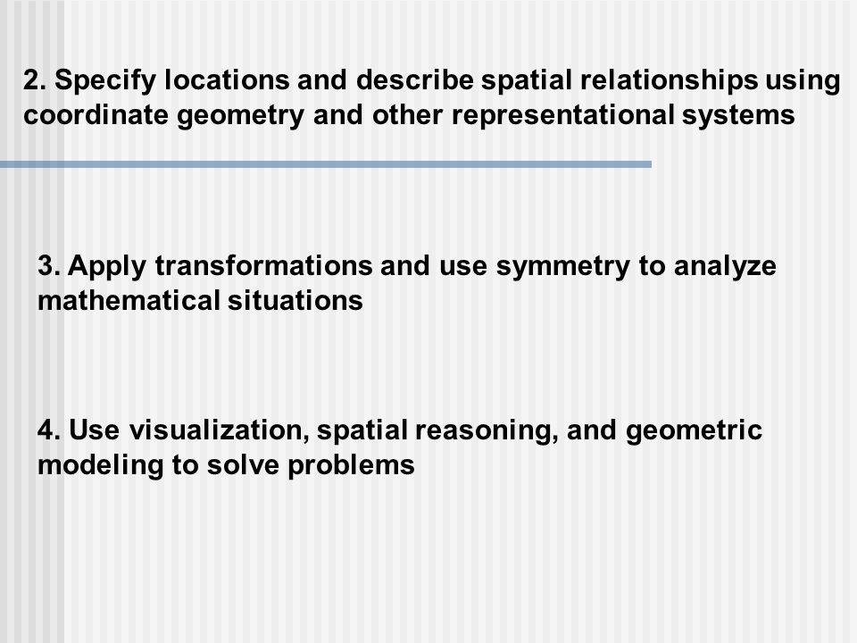 2. Specify locations and describe spatial relationships using
