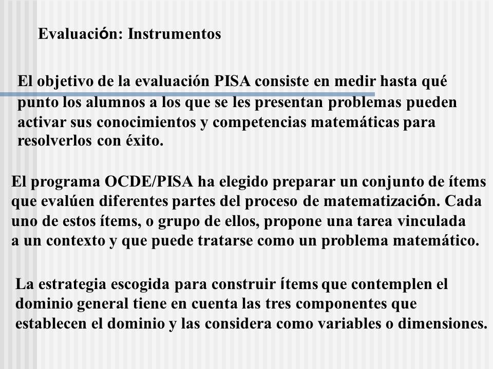Evaluación: Instrumentos