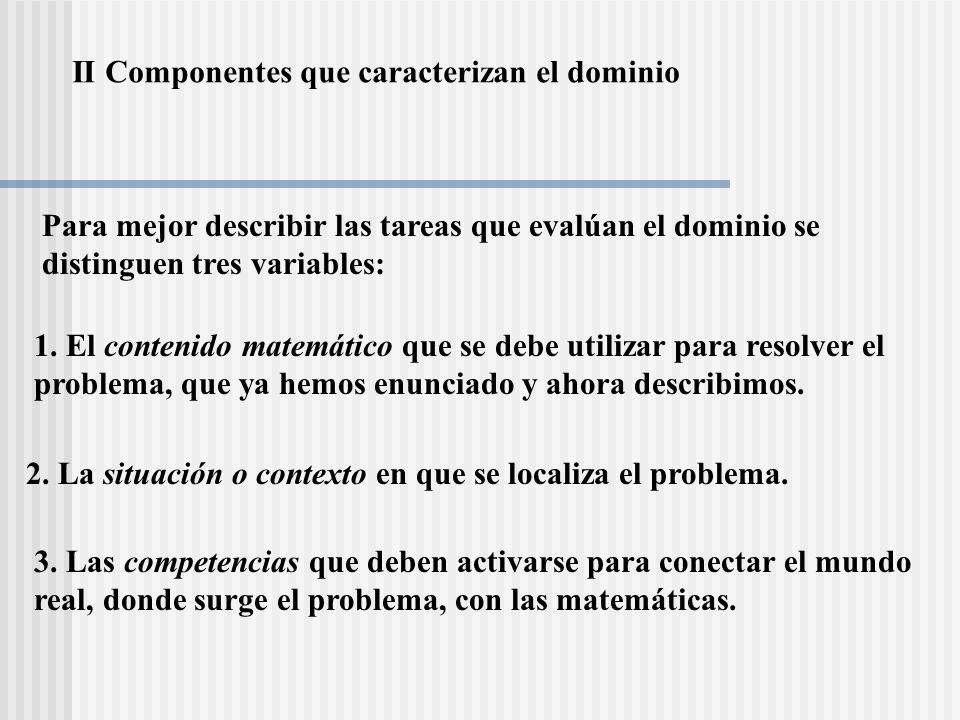 II Componentes que caracterizan el dominio