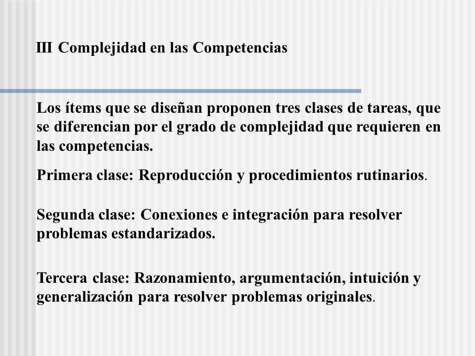 III Complejidad en las Competencias