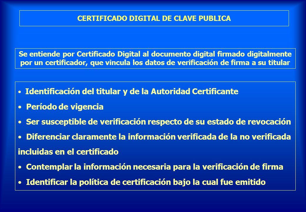 CERTIFICADO DIGITAL DE CLAVE PUBLICA