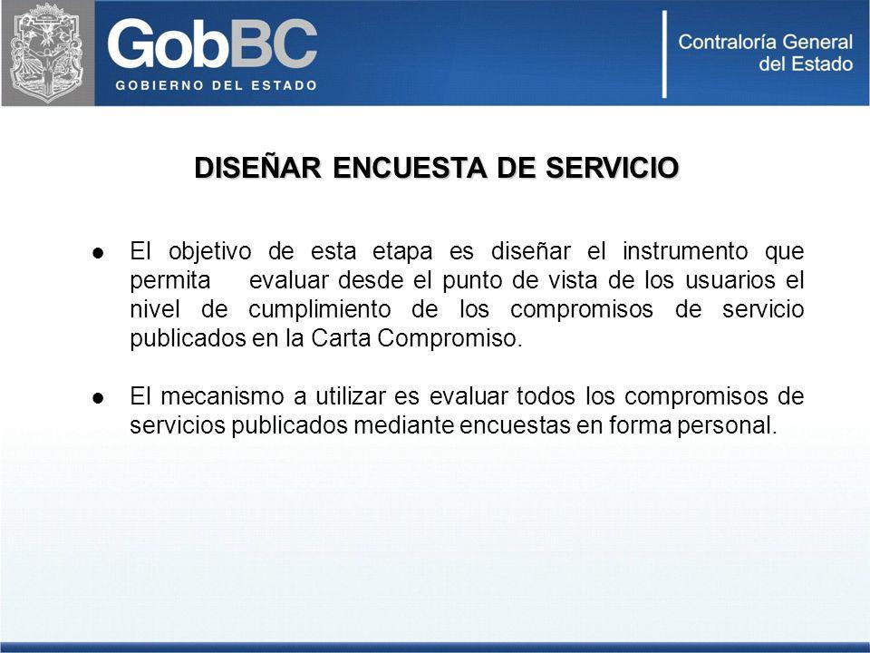 DISEÑAR ENCUESTA DE SERVICIO