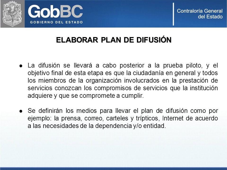 ELABORAR PLAN DE DIFUSIÓN