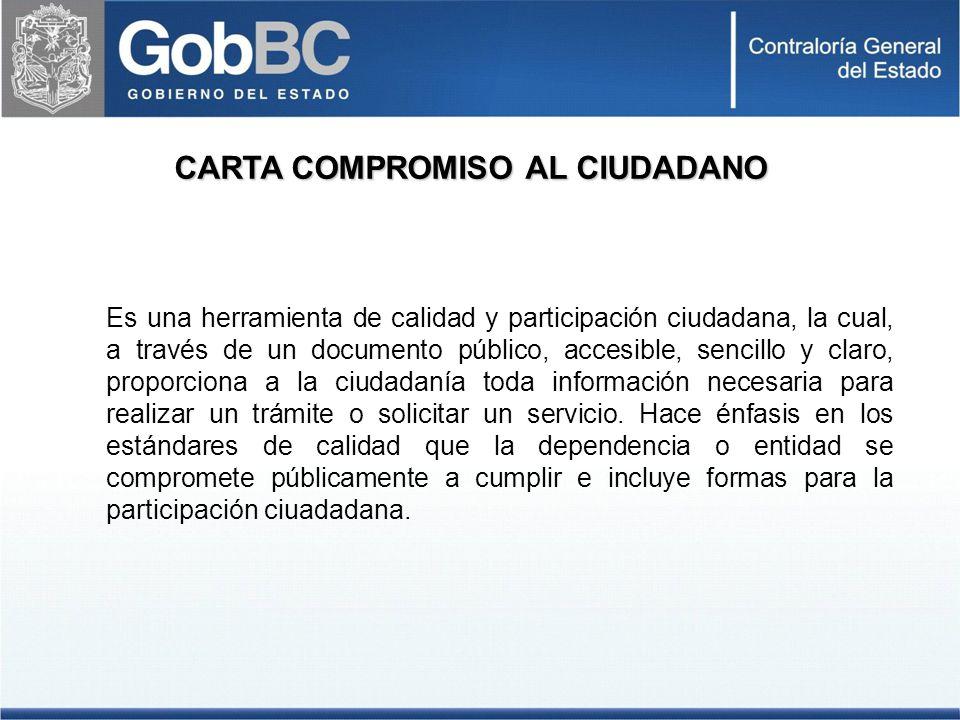 CARTA COMPROMISO AL CIUDADANO