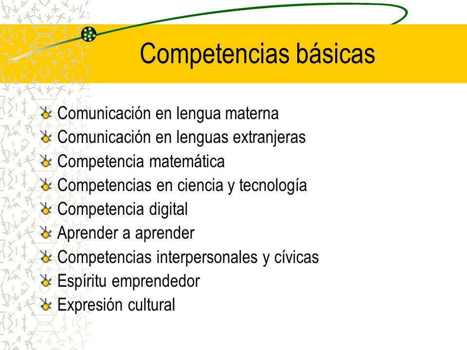 Competencias básicas Comunicación en lengua materna