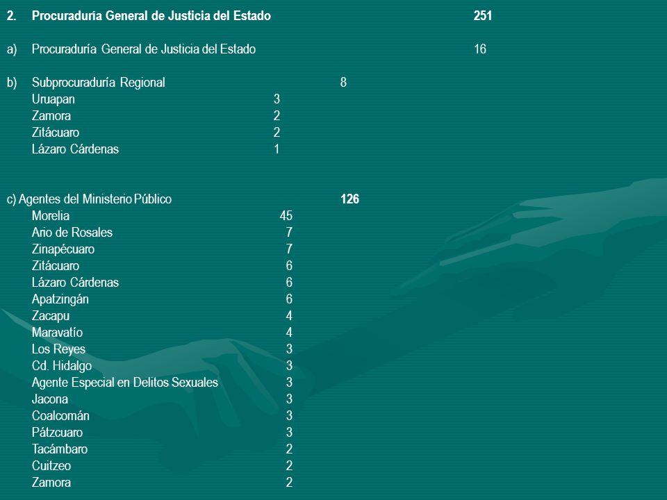 Procuraduría General de Justicia del Estado 251