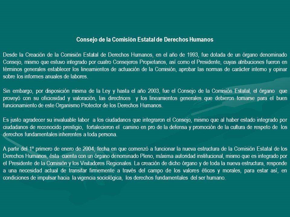 Consejo de la Comisión Estatal de Derechos Humanos