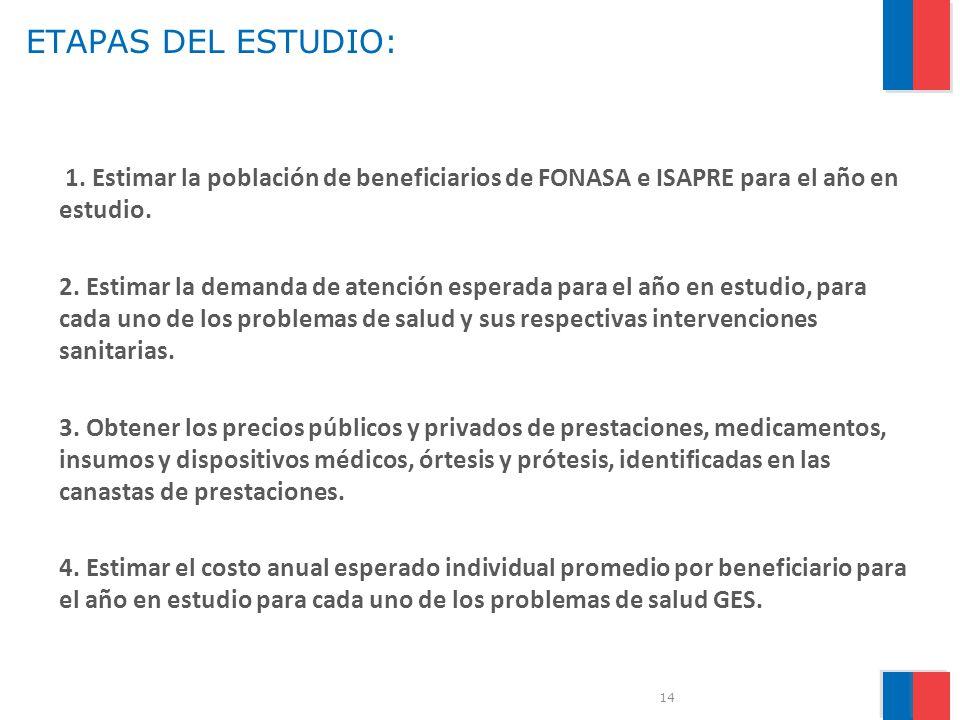 ETAPAS DEL ESTUDIO:
