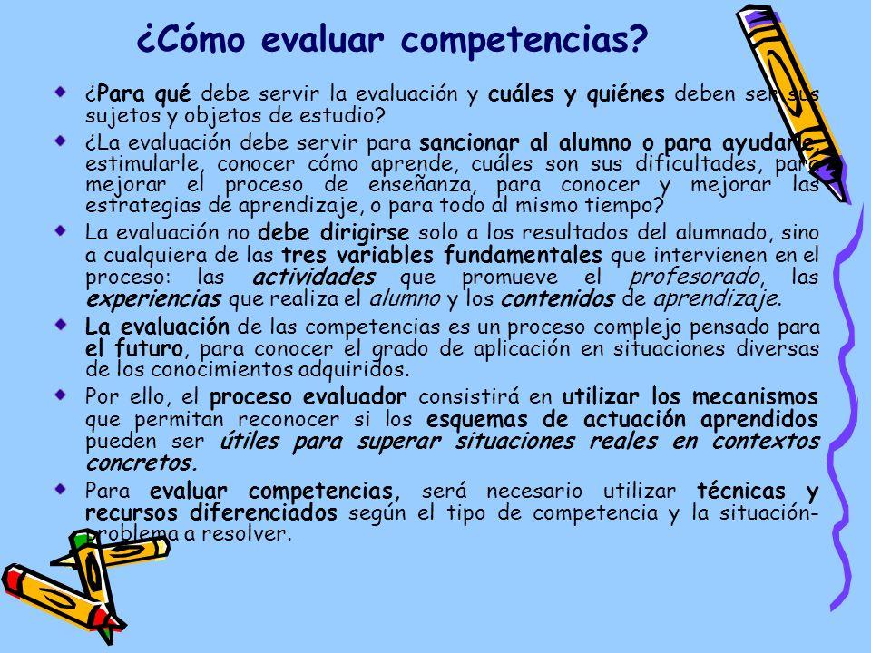 ¿Cómo evaluar competencias