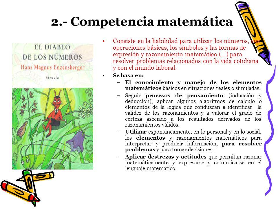 2.- Competencia matemática