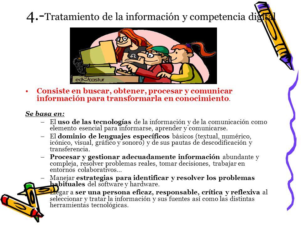 4.-Tratamiento de la información y competencia digital