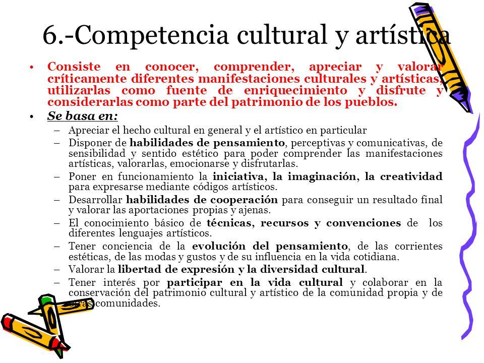 6.-Competencia cultural y artística
