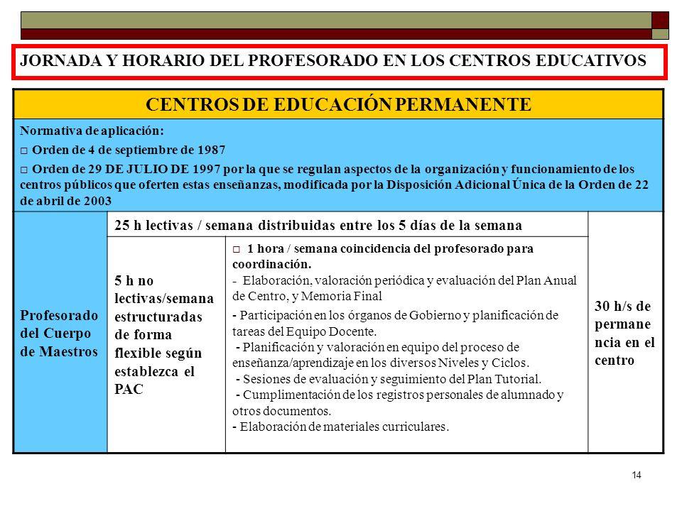 CENTROS DE EDUCACIÓN PERMANENTE