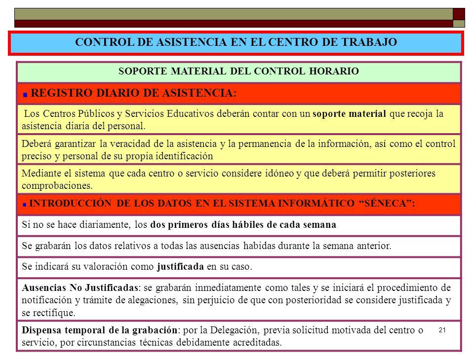 CONTROL DE ASISTENCIA EN EL CENTRO DE TRABAJO