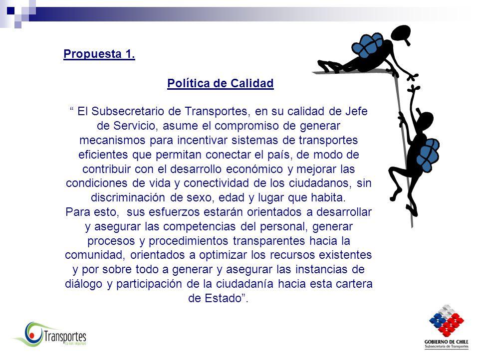 Propuesta 1. Política de Calidad.