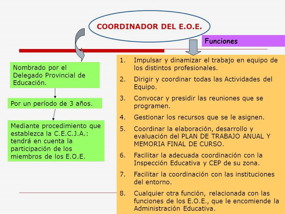 COORDINADOR DEL E.O.E. Funciones