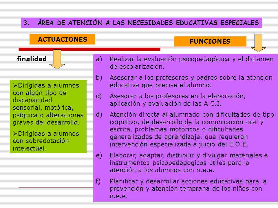 ÁREA DE ATENCIÓN A LAS NECESIDADES EDUCATIVAS ESPECIALES