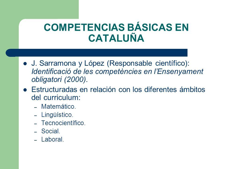 COMPETENCIAS BÁSICAS EN CATALUÑA