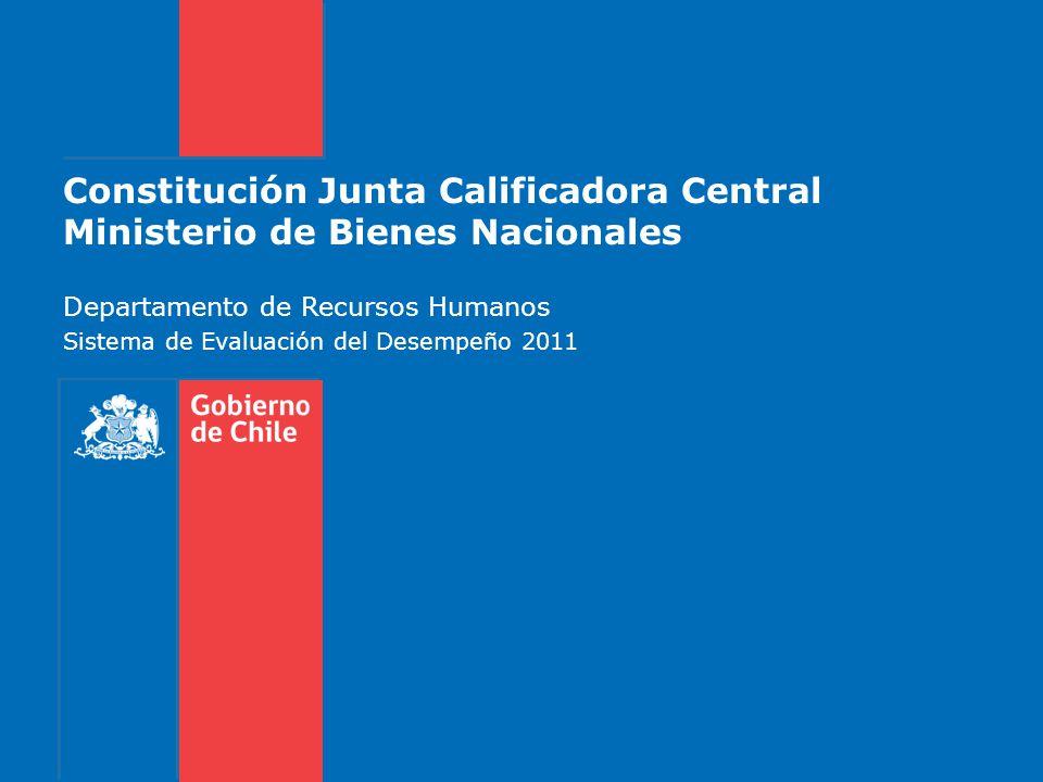 Constitución Junta Calificadora Central Ministerio de Bienes Nacionales