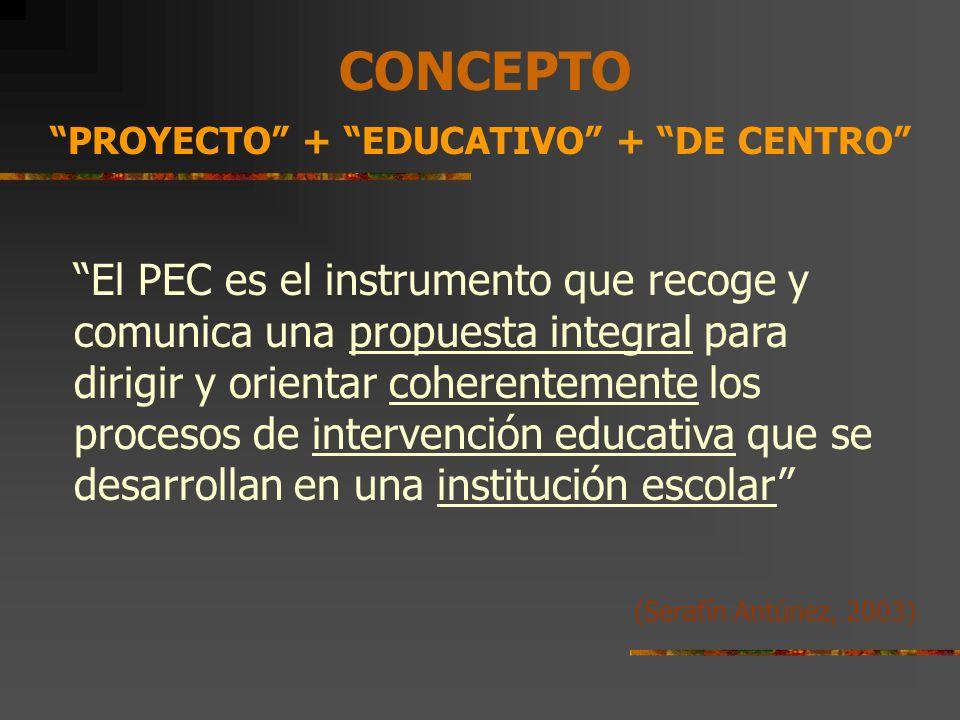 CONCEPTO PROYECTO + EDUCATIVO + DE CENTRO
